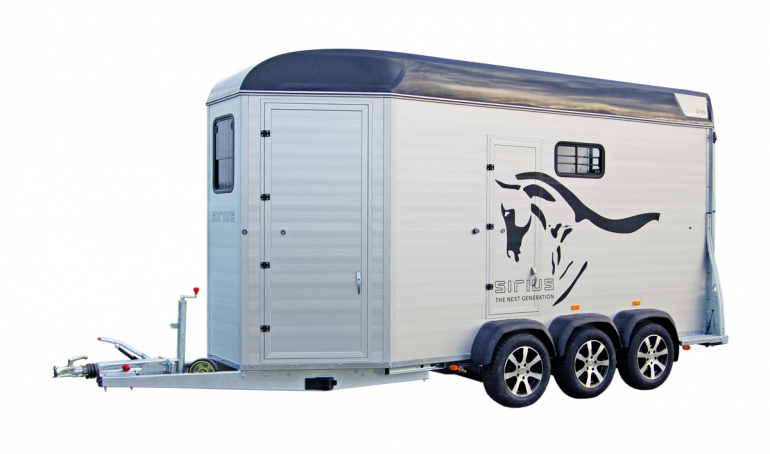 Sirius horsetrailer S90 Aluminium Carriage for transport of carriage and horses