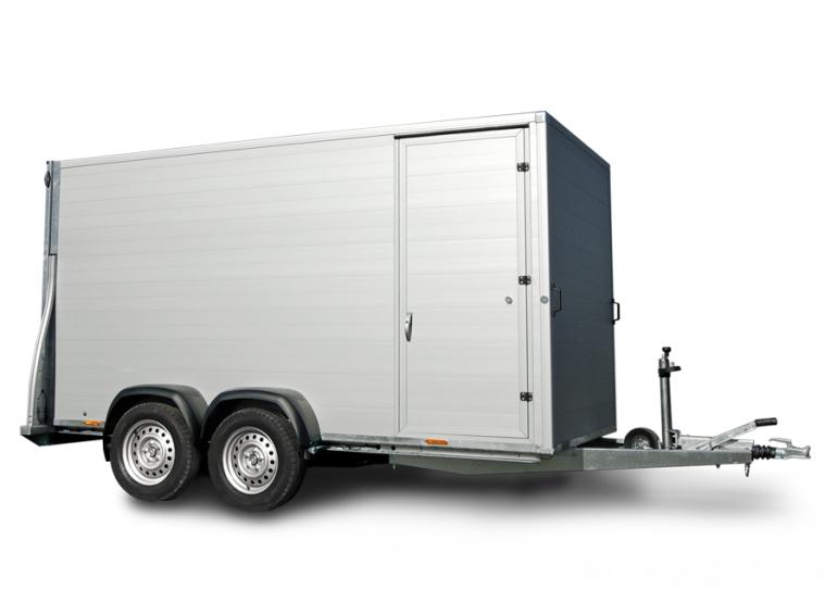 Kargo Trailer Remorques fourgon simple essieu G255 G305 paroi en bois
