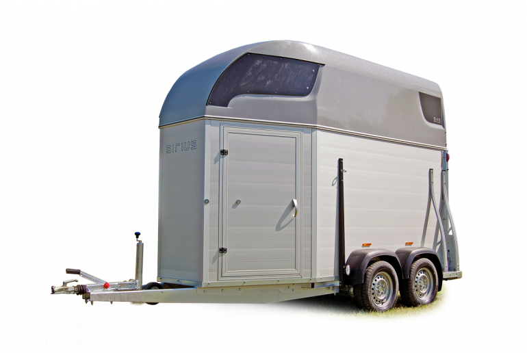 Sirius Trailers S45 horsetrailer aluminium sides one-and-a-half horse